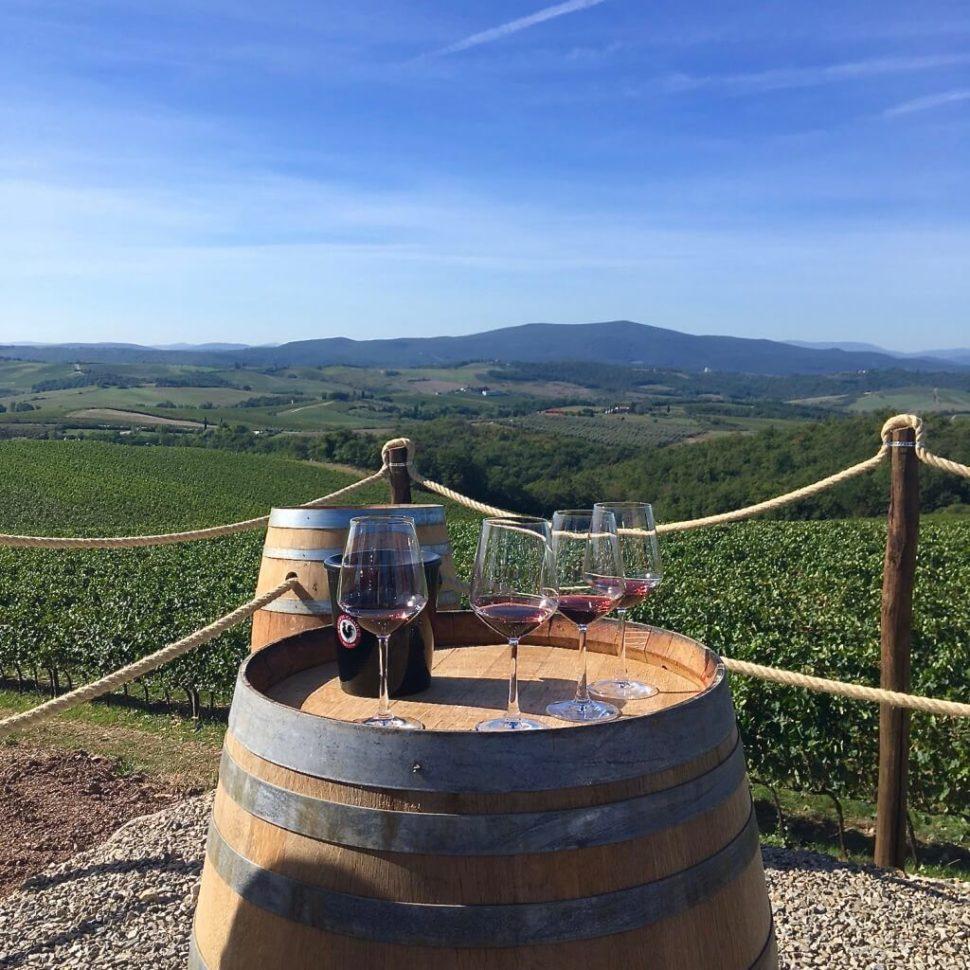 Vínna cesta po toskánskych viniciach a vinárstvach